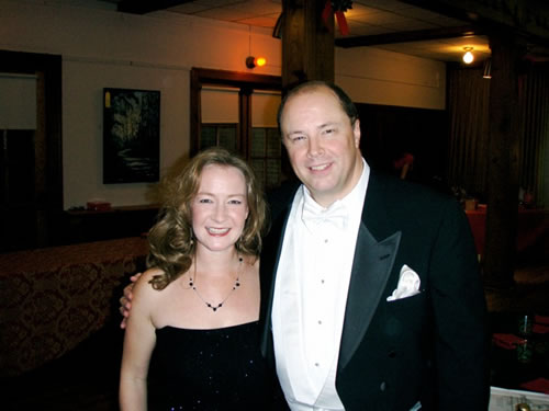 Heather with the Director for the American Center for Puccini Studies, Dr. Harry Dunstan