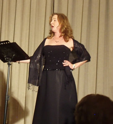 Heather sings for the Puccini Vigil